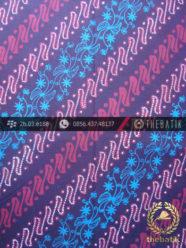 Kain Batik Cap Tulis Jogja Motif Parang Kelir Ungu Biru