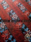 Kain Batik Cap Tulis Jogja Motif Parang Merah Latar Hitam