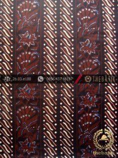 Kain Batik Cap Tulis Jogja Motif Parang Merak Tegak Sogan