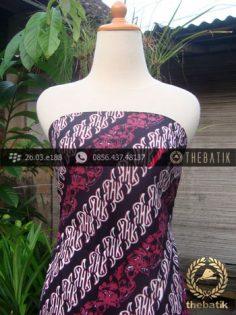 Kain Batik Cap Tulis Jogja Motif Pulau Parang Kombinasi Pink