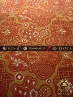Kain Batik Cap Tulis Jogja Motif Sekar Jagad Kelir Kuning