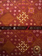 Kain Batik Tulis Yogyakarta Motif Sekarjagad Marun Kuning