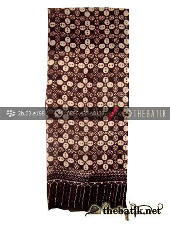 Syal Batik Paris Motif Kawung Sisik