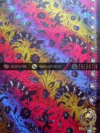 Kain Batik Cap Warna Gradasi Motif Kontemporer
