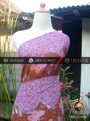 Bahan Batik Paris Motif Kupu-Kupu Kontemporer Pink