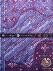 Kain Batik Cap Tulis Jogja Motif Pulau Kontemporer Biru