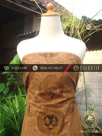 Kain Batik Cap Solo Motif Soga Genes