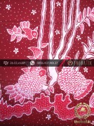 Kain Batik Tulis Yogya Motif Pring Sedapur Merah