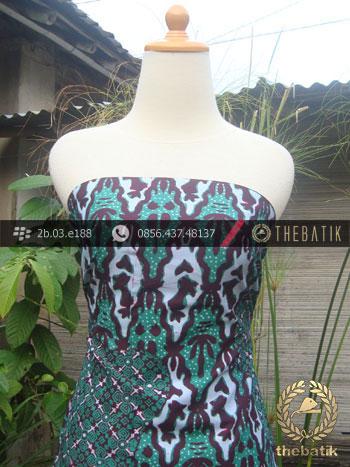 Kain Batik Cap Tulis Jogja Motif Pulau Kombinasi Krantil Hijau