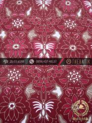 Kain Batik Cap Tulis Jogja Motif Kupu Anggur Maroon