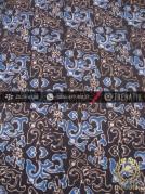 Kain Batik Warna Alam Motif Ceplok Lereng Biru