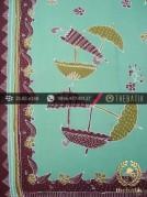 Kain Batik Tulis Kumpeni Cirebon Motif Payung Hijau Pastel