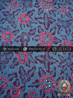 Kain Batik Tulis Jogja Motif Bantulan Gringsing Biru Merah