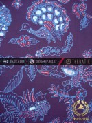 Kain Batik Tulis Jogja Motif Burung Merak Biru