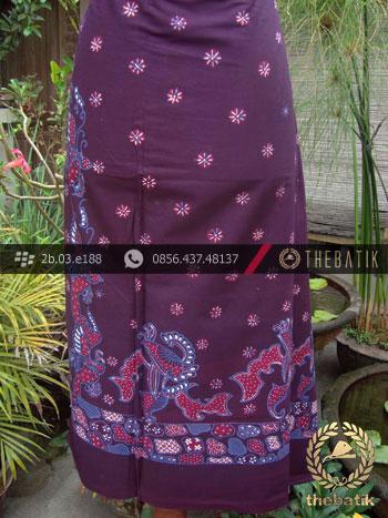 Kain Batik Tulis Jogja Motif Buketan Ungu-2