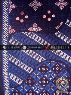Kain Batik Cap Tulis Jogja Motif Pulau Biru-1