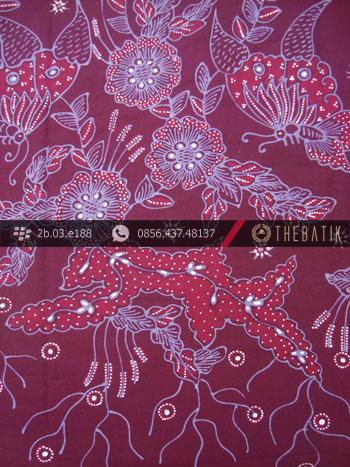 Kain Batik Tulis Jogja Motif Buketan Ungu-3