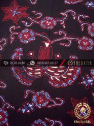 Kain Batik Tulis Jogja Motif Gurdo Latar Hitam-2