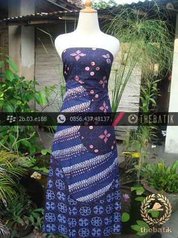 Kain Batik Cap Tulis Jogja Motif Pulau Biru-2