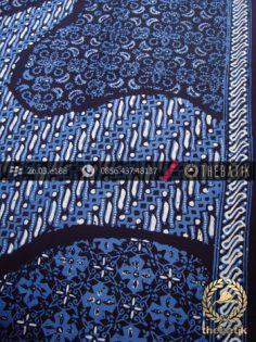 Kain Batik Cap Tulis Jogja Motif Pulau Klithik Biru