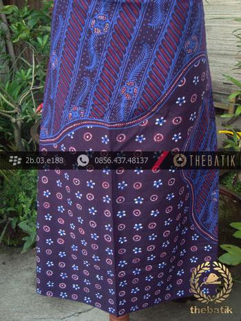 Batik Tulis Jogja Motif Pulau Kombinasi Biru