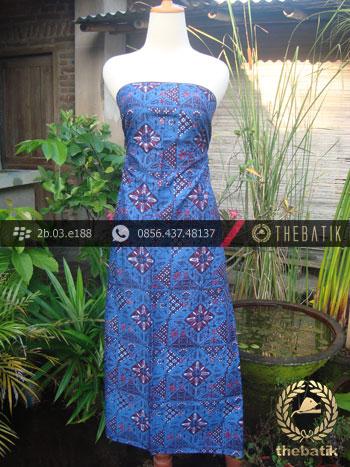 Kain Batik Cap Tulis Jogja Motif Tambal Kontemporer Biru