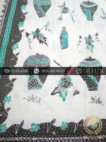 Batik Tulis Cirebon Motif Guci Antik Hijau