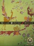 Batik Tulis Cirebon Motif Burung Latar Hijau Pastel