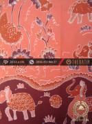Batik Tulis Cirebon Motif Gajah Peach