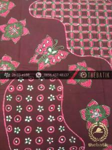 Batik Tulis Jogja Motif Pulau Kupu Pink Marun