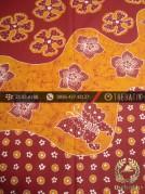 Batik Tulis Jogja Motif Pulau Remukan Kembang Kuning Merah