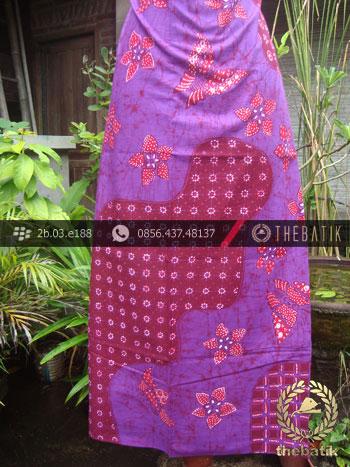 Batik Tulis Jogja Motif Pulau Kupu-Kupu Kembang Ungu