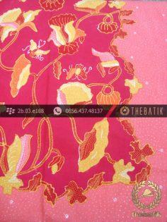 Batik Tulis Cirebon Motif Buketan Sulur Merah Jambon