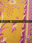 Batik Tulis Cirebon Motif Buketan Kuning Pink