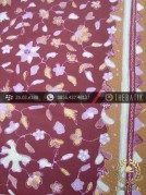 Batik Tulis Cirebon Motif Kembang Kecil Marun