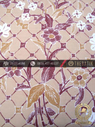 Batik Tulis Cirebon Motif Kawung Buketan Coklat