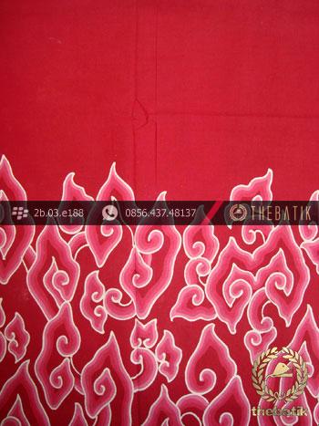 Batik Tulis Cirebon Motif Megamendung Pink