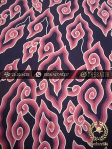 Batik Tulis Cirebon Megamendung Pink Biru Dongker