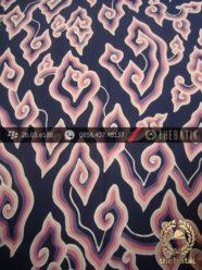 Batik Tulis Cirebon Megamendung Soft Pink Biru Dongker