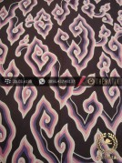 Batik Tulis Cirebon Motif Megamendung Pink Latar Ungu