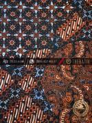 Kain Batik Cap Tulis Jogja Motif Pulau Kombinasi Orange
