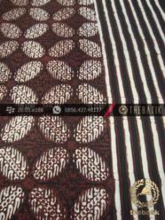 Kain Batik Cap Motif Bligon Seling Garis