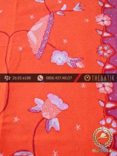 Batik Tulis Cirebon Motif Buketan Sulur Peach