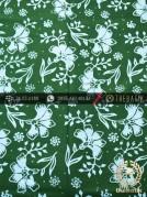 Kain Batik Cap Motif Ceplok Kembang Hijau