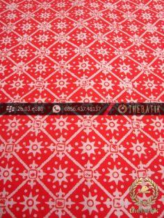 Kain Batik Cap Motif Ceplok Merah