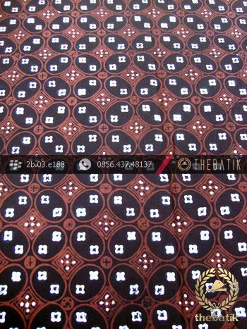 Batik Cap Tulis Jogja Motif Kawung Benggol Coklat