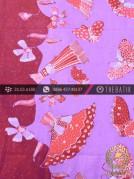 Batik Tulis Cirebon Motif Kipas Latar Ungu