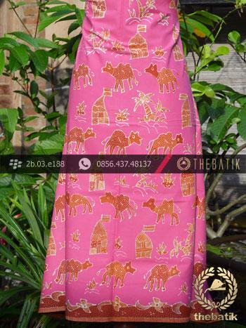 Batik Tulis Cirebon Motif Kumpeni Unta Pink