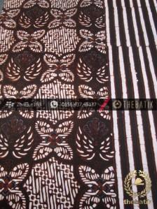 Kain Batik Cap Motif Prabu Anom Seling Garis
