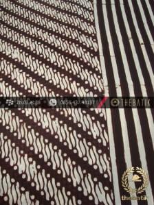 Kain Batik Cap Motif Parang Klithik Seling Garis